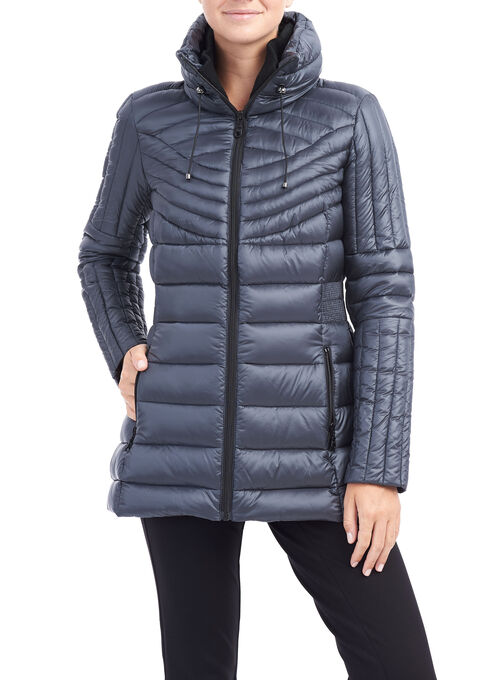 B by Bernardo Packable Jacket, Blue, hi-res