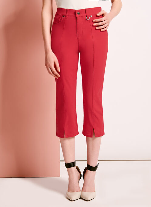 Simon Chang Capri Pants, Red, hi-res