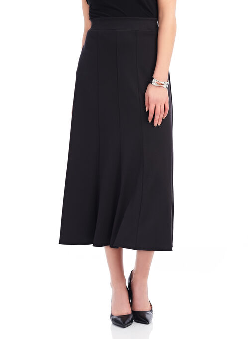 Ponte Maxi Skirt , Black, hi-res