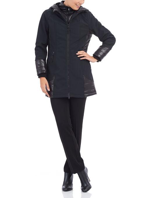Chillax Softshell Hooded Coat, Black, hi-res