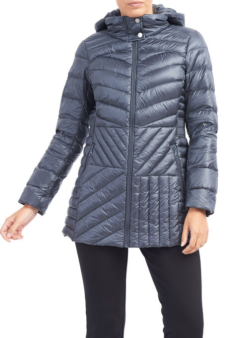 Bernardo Packable Down Blend Jacket, Blue, hi-res