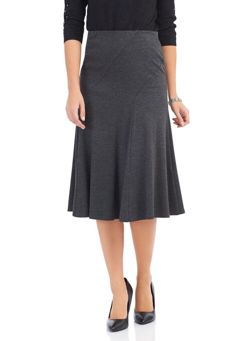 Ponte Midi Skirt , Grey, hi-res