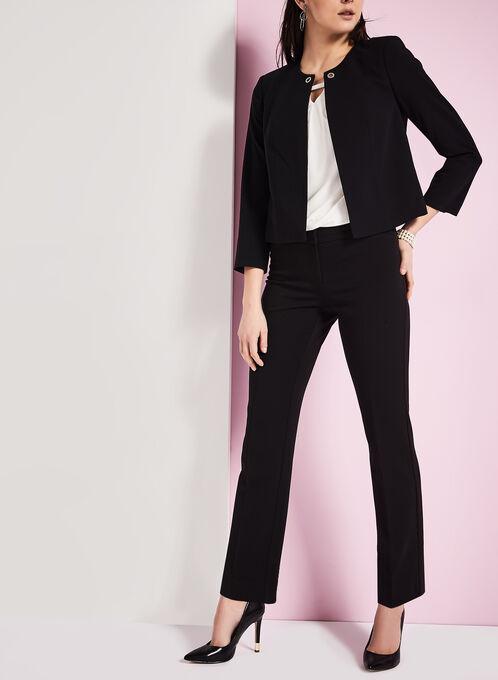 3/4 Sleeve Grommet Jacket, Black, hi-res