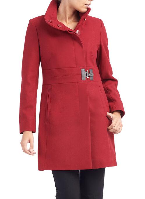Via Spiga Wool Coat, Red, hi-res