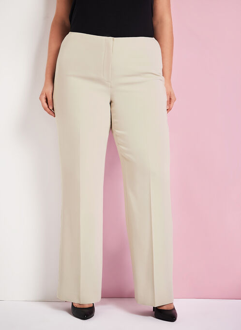 Louben - Straight Leg Pants, Off White, hi-res