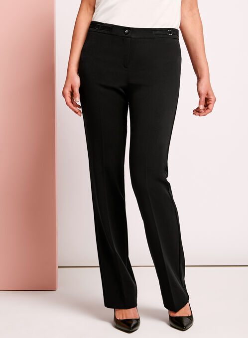Modern Fit Straight Leg Pant, Black, hi-res