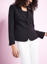 Notch Collar Pintuck Blazer, , hi-res