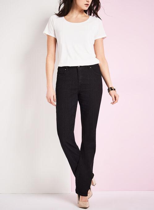 Simon Chang - Straight Leg Jeans, Black, hi-res