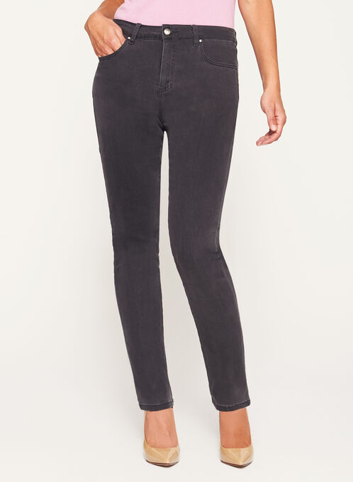 Simon Chang - Signature Fit Straight Leg Jeans, Grey, hi-res