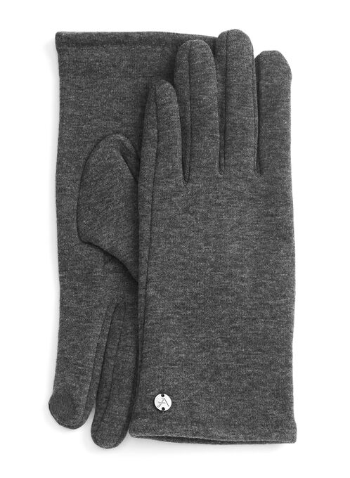 Touch Screen-Friendly Gloves, Grey, hi-res
