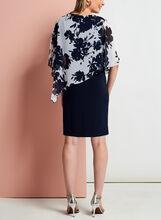 Printed Chiffon Popover Dress, Blue, hi-res