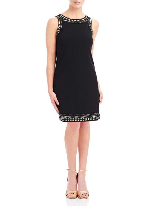 Stud Detail Jersey Tank Dress, Black, hi-res