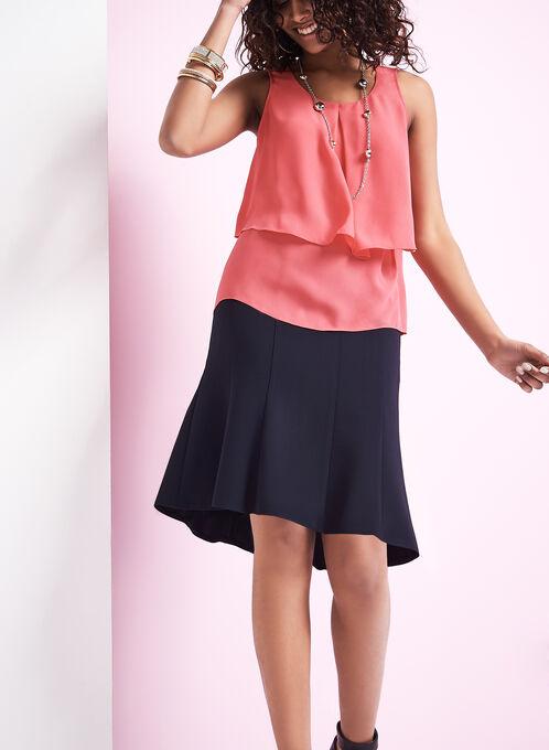 Gored A-Line Skirt, Blue, hi-res