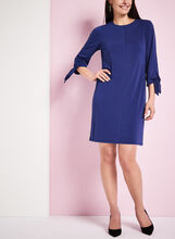3/4 Sleeve Jersey Shift Dress, Blue, hi-res