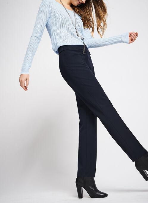 Welt Pocket Straight Leg Pants, Blue, hi-res