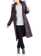 Novelti Thinsulate™ Faux Fur Trim Coat, Grey, hi-res