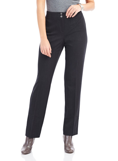Two Button Modern Fit Pants, Grey, hi-res