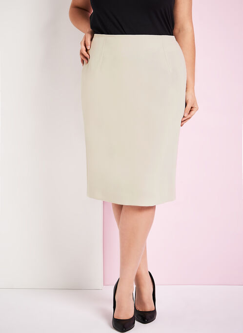 Louben Pull-on Pencil Skirt, Off White, hi-res