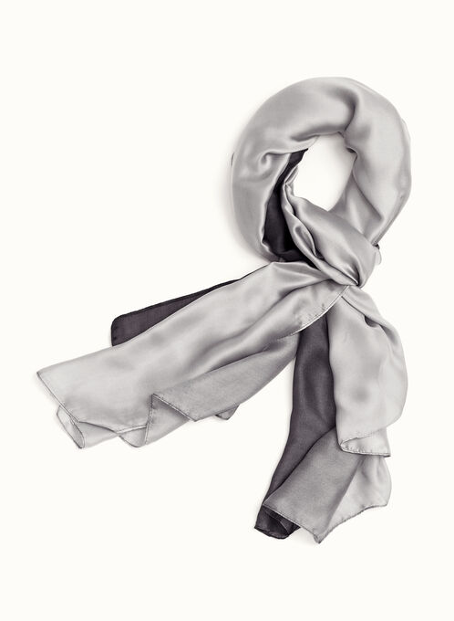 Ombré Wrap Scarf, Black, hi-res
