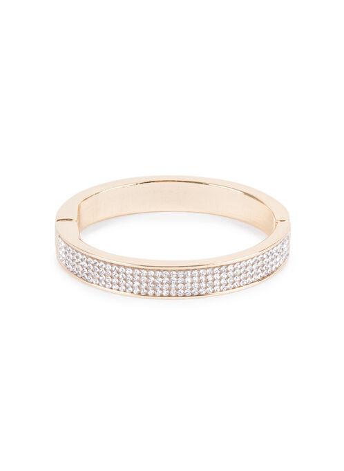 Crystal Bangle Bracelet , Gold, hi-res