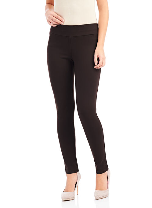 Slim Leg Ponte Leggings, Black, hi-res