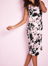 Cowl Neck Floral Print Dress, , hi-res
