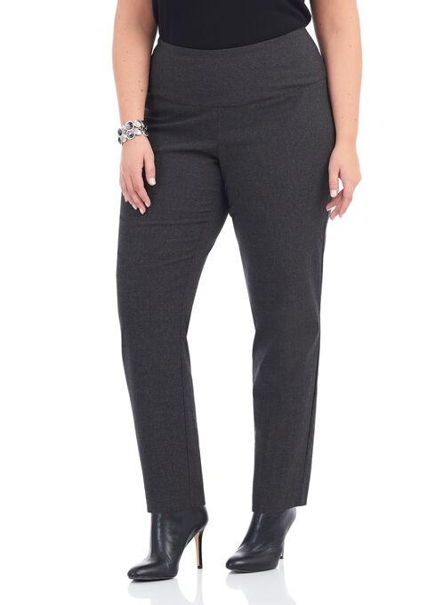 Slim Leg Check Print Leggings, Black, hi-res