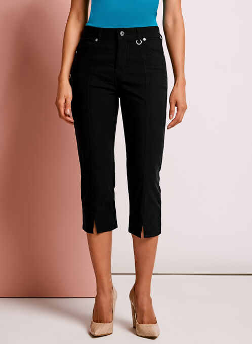 Simon Chang Capri Pants, Black, hi-res