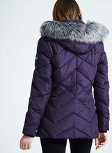 Novelti Faux Fur Down Coat, Red, hi-res