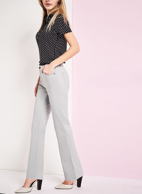 Simon Chang Straight Leg Pants , Grey, hi-res