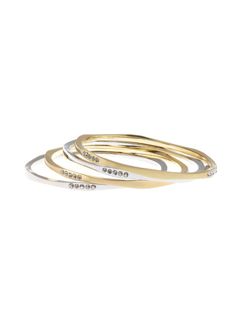 Set of Two-Tone Bangles, Yellow, hi-res