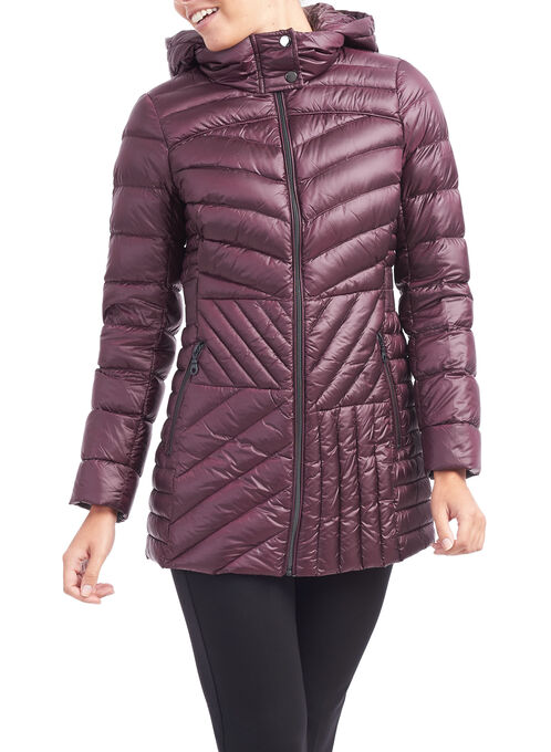 Bernardo Packable Quilted Jacket, Purple, hi-res