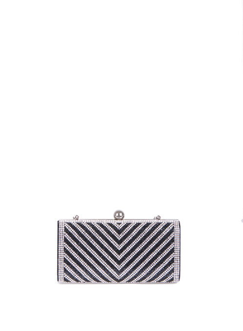 Crystal Box Clutch , Black, hi-res