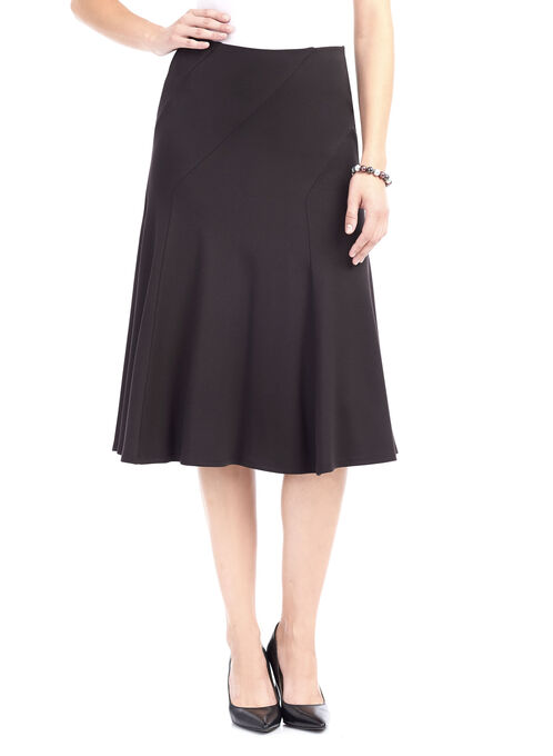 Ponte Midi Skirt , Black, hi-res