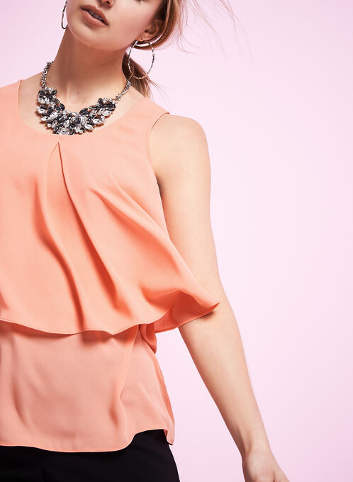 Sleeveless Popover Blouse, Pink, hi-res