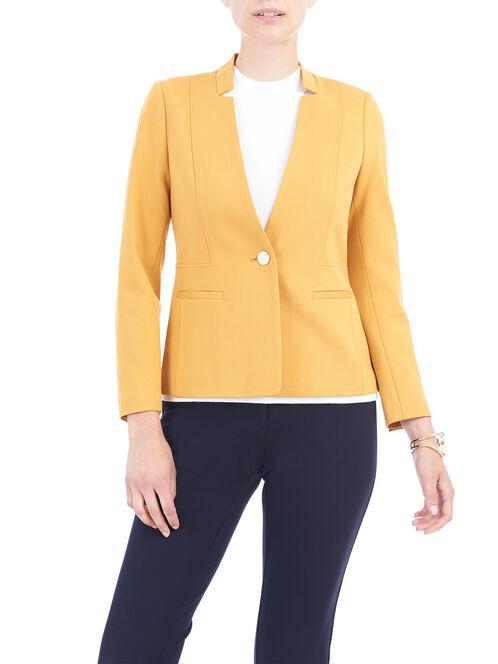 Reese Pocket Knit Blazer, Yellow, hi-res