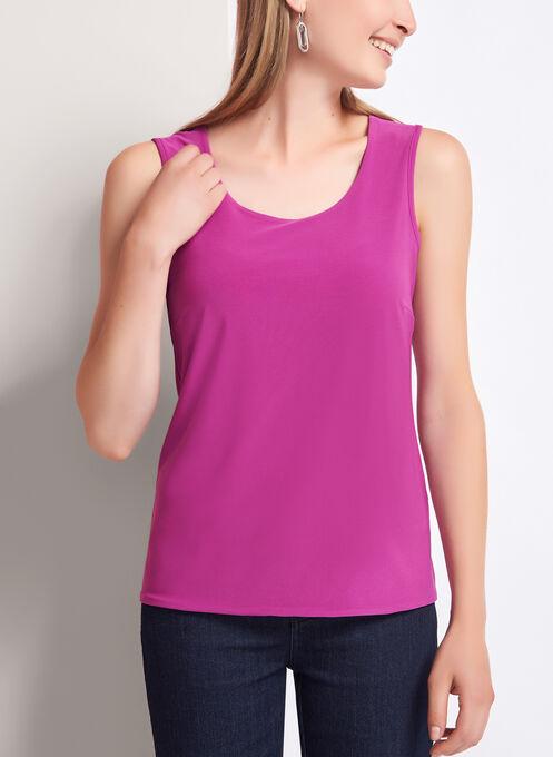 Sleeveless Scoop Neck Top, Pink, hi-res