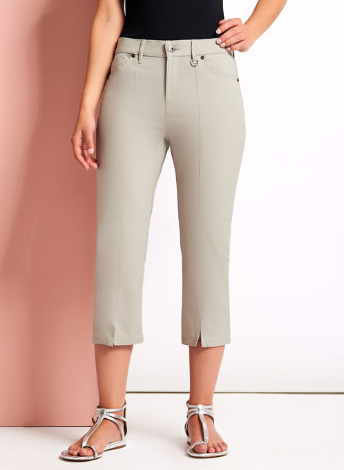 Simon Chang Capri Pants, Off White, hi-res