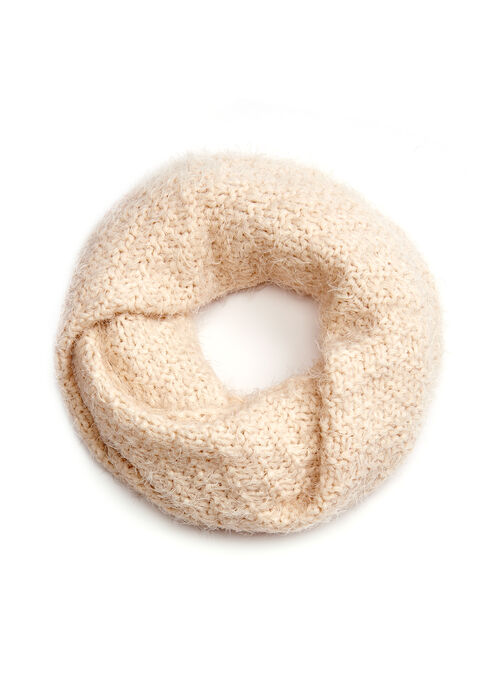 Knit Loop Scarf, Off White, hi-res