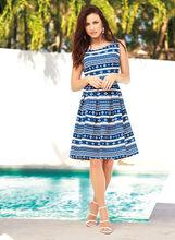 Geometric Print Pique Knit Dress, , hi-res