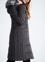 Novelti Faux Fur Down Coat , Grey, hi-res