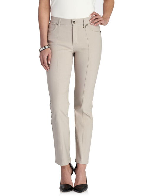 Simon Chang Straight Leg Pants, Off White, hi-res