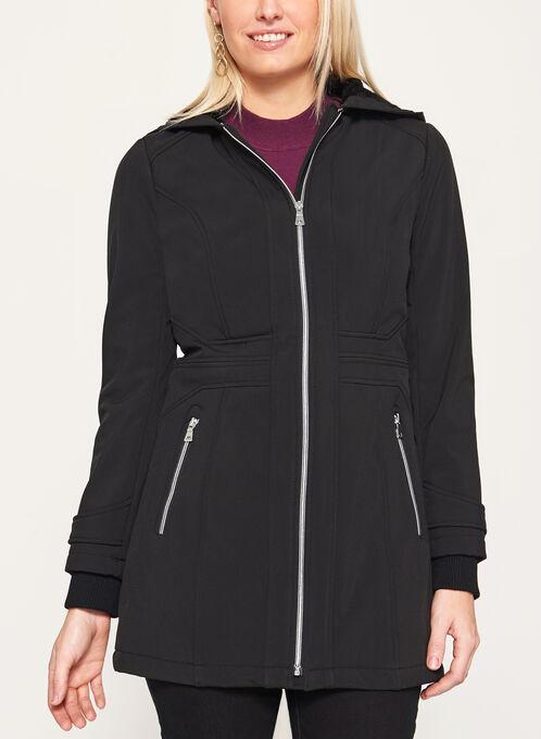 Softshell Fleece Lined Coat, Black, hi-res