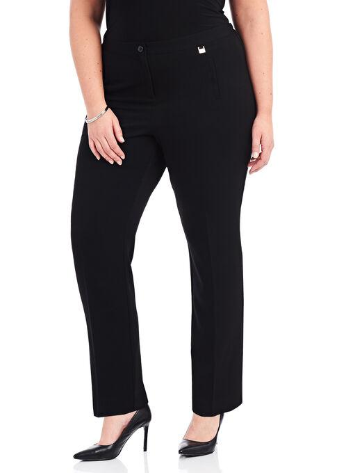 Welt Pocket Straight Leg Pants, Black, hi-res