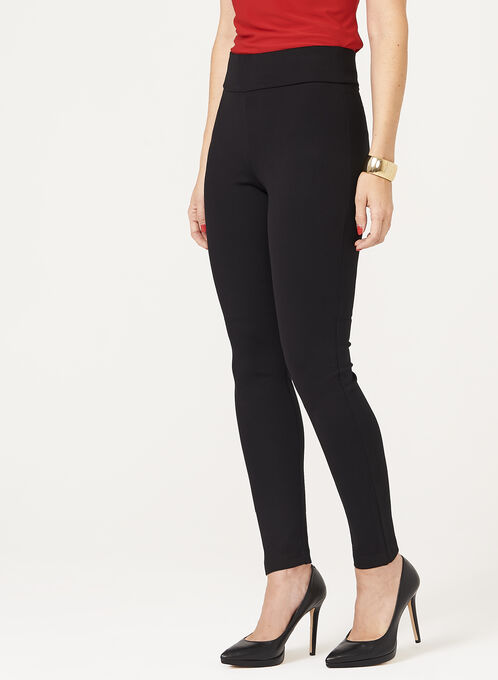 Pull-On Knit Leggings, Black, hi-res