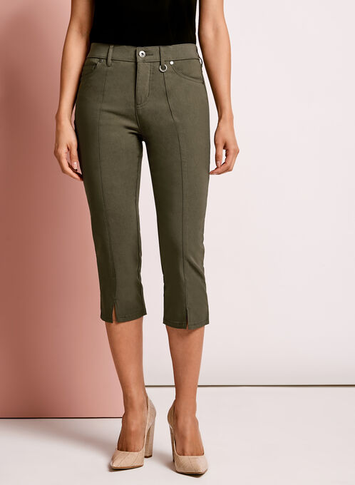 Simon Chang Capri Pants, Green, hi-res