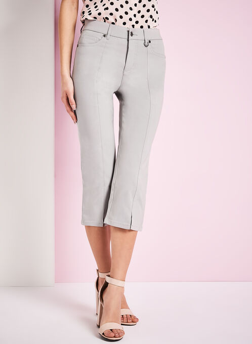 Simon Chang Capri Pants, Silver, hi-res