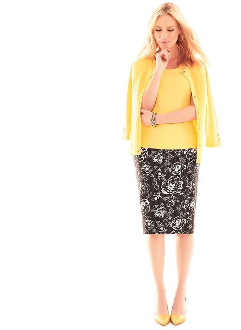 Bengaline Pencil Skirt, Black, hi-res