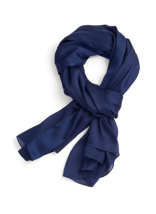 Solid Chiffon Wrap, Blue, hi-res