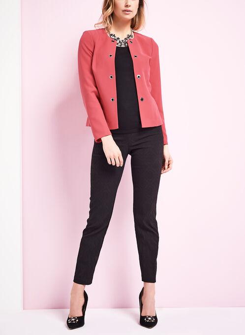 Open Front Grommet Jacket , Red, hi-res